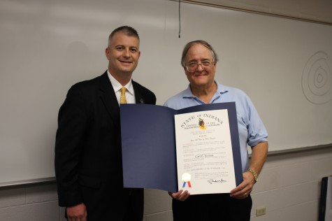 History professor surprised by Sagamore of the Wabash award