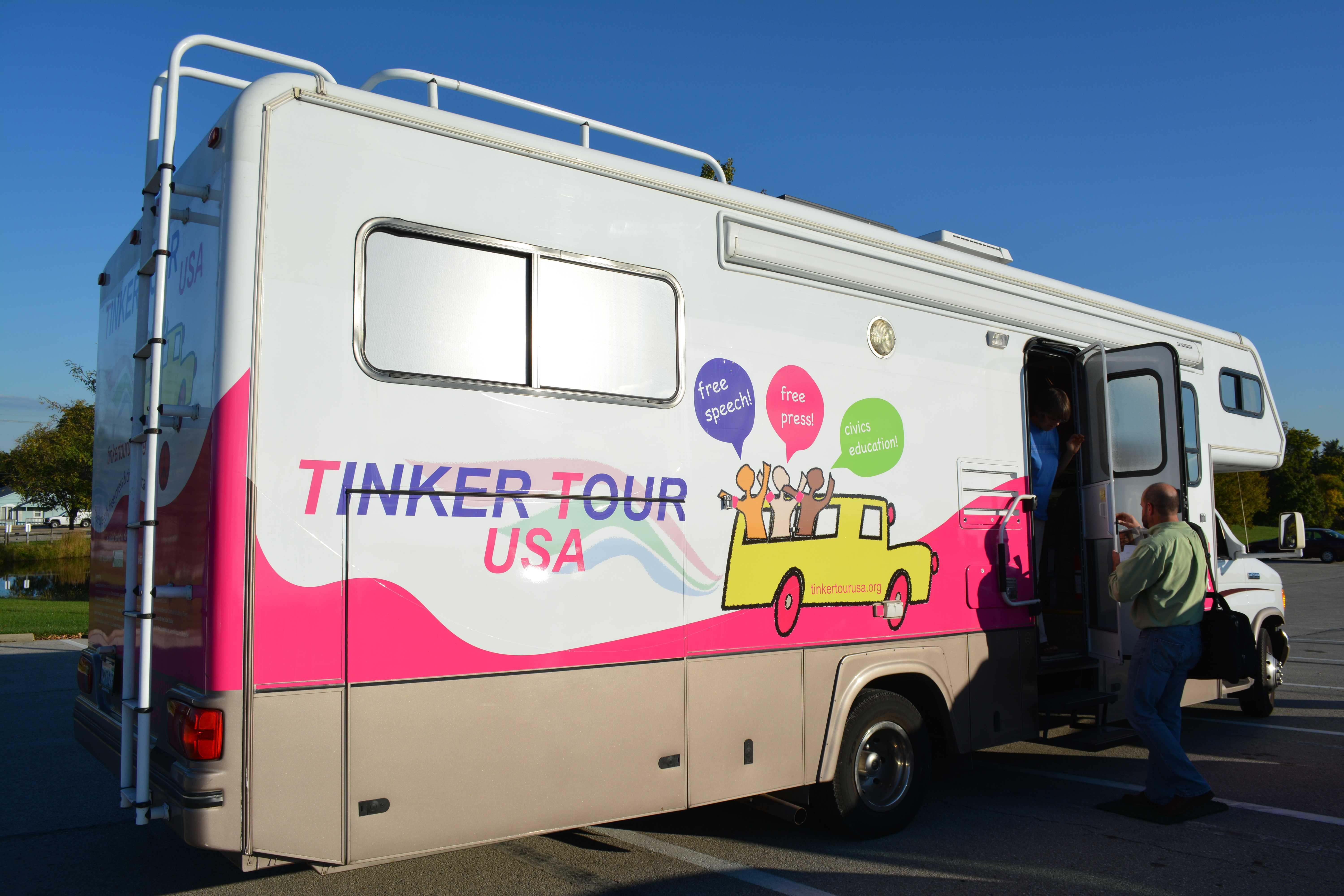 The Tinker Tour USA made a stop at IU Southeast on Oct. 9. Mary Beth Tinker and Mike Hiestand promoted student free speech during a presentation held at the Ogle Center as a Common Experience event.