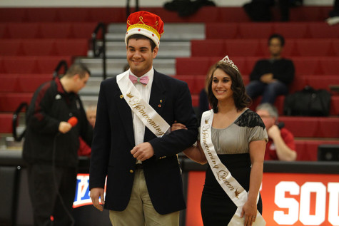 The first ever Homecoming King and Queen crowned