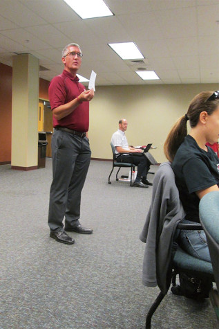 """Michael Day, personal counseling services, discussed the importance of the """"Tell me about your day"""" project."""
