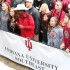 The parade ended with a group photo. All of the people that attended for IU Southeast squeezed in together.