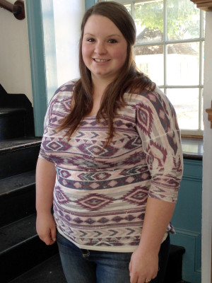 Shelby Royalty, education senior, developed an interest in teaching during the 2012-13 academic year, when she started working as a tour guide at the Corydon Capitol State Historic Site.