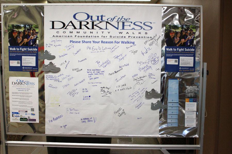 The+participants+of+the+community+walk+were+able+to+share+their+reason+for+walking+on+this+board.