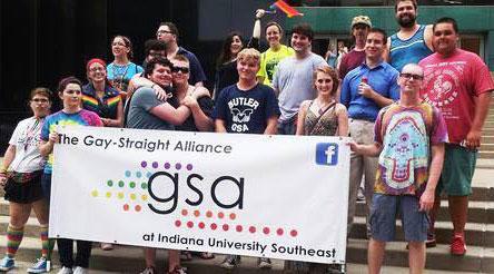 Photo courtesy of GSA The GSA at the Kentuckiana Pride Parade 2014.