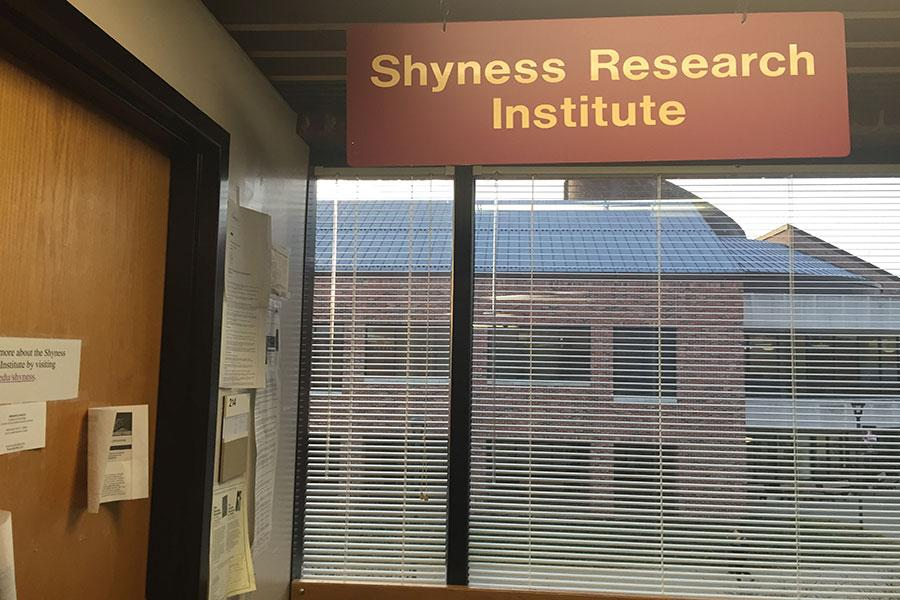 The Shyness Research Institute, located on the second floor of Crestview Hall.