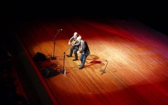 Loren and Mark perform in Stem Concert Hall