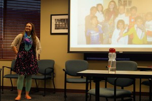 Katherine Clark, accountant at Harding, Shymanski & Company, P.S.C., shares her study-abroad experiences with IUS students.