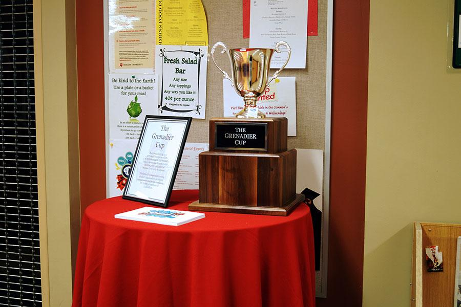 The Grenadier Cup will be awarded to the student organization that accumulates the  most points during the Grenadier Cup competition by competing in a variety of events, including   a cornhole tournament and a tailgate table contest.