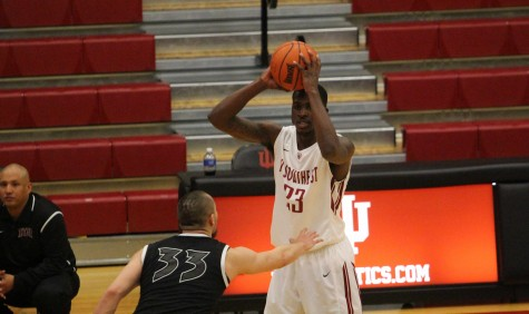 Freshman forward Robert Sawyer runs  the offense as the Grenadiers beat the number one ranked team in the KAIC, IU East.