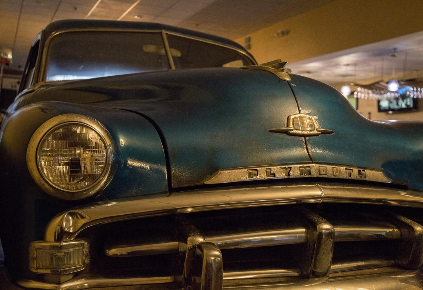 Parked+in+the+restaurant+is+a+1951+Plymouth