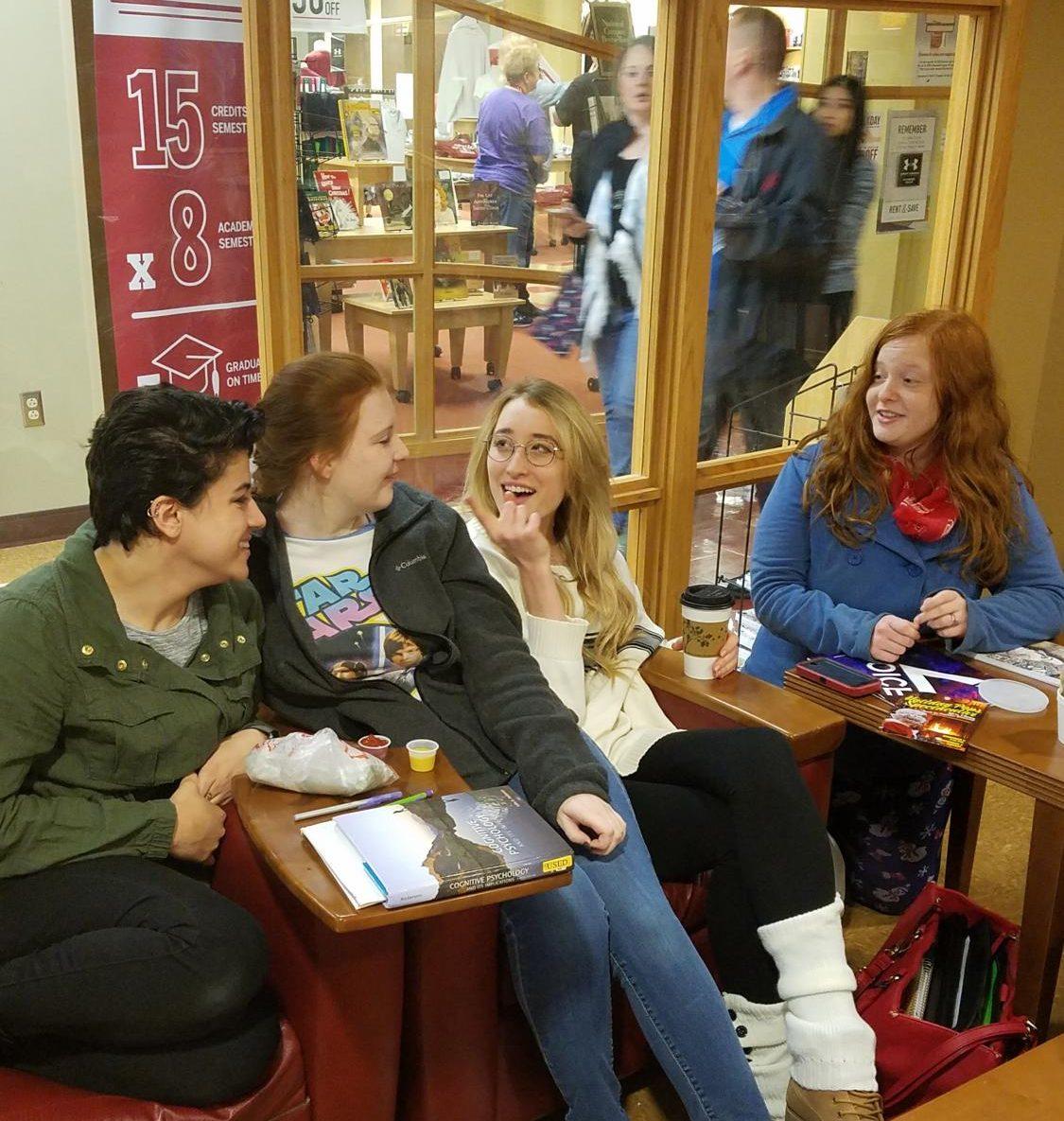 Megan Randall [far right] said,