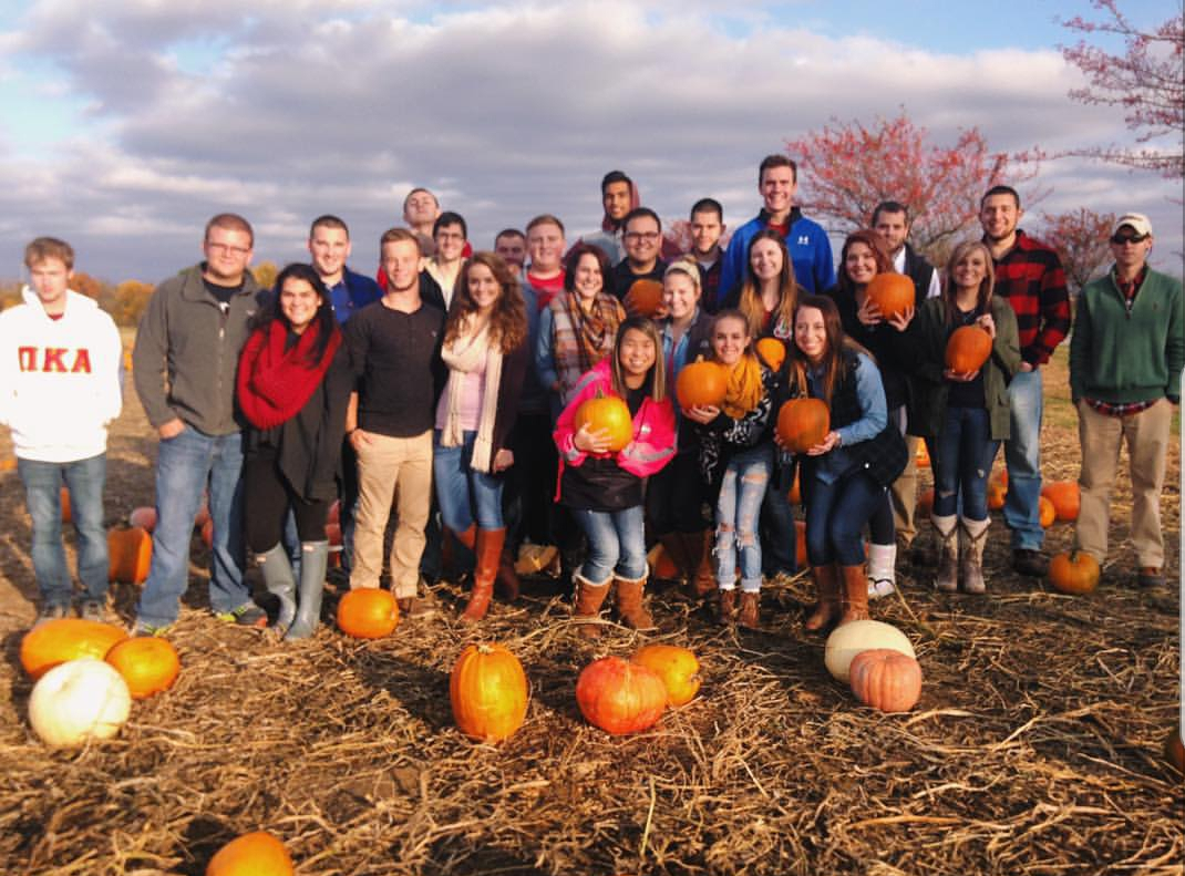 Pumpkin picking at Huber's Orchard, Vineyard and Winery. Photo by Erin Coffee