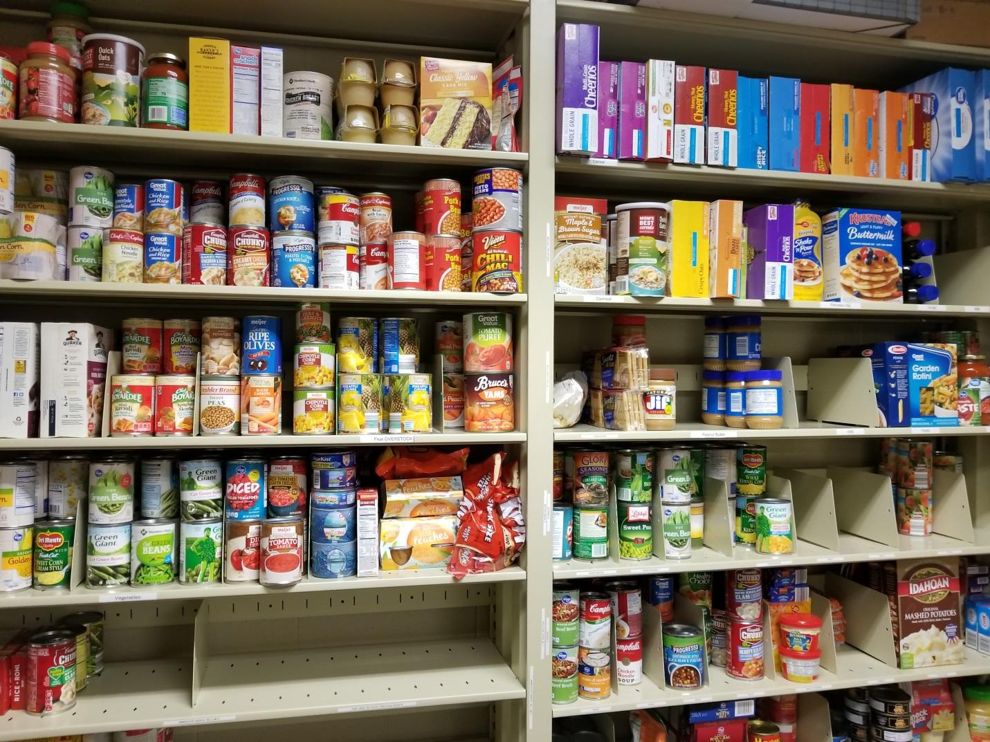 Inside the IUS food pantry.
