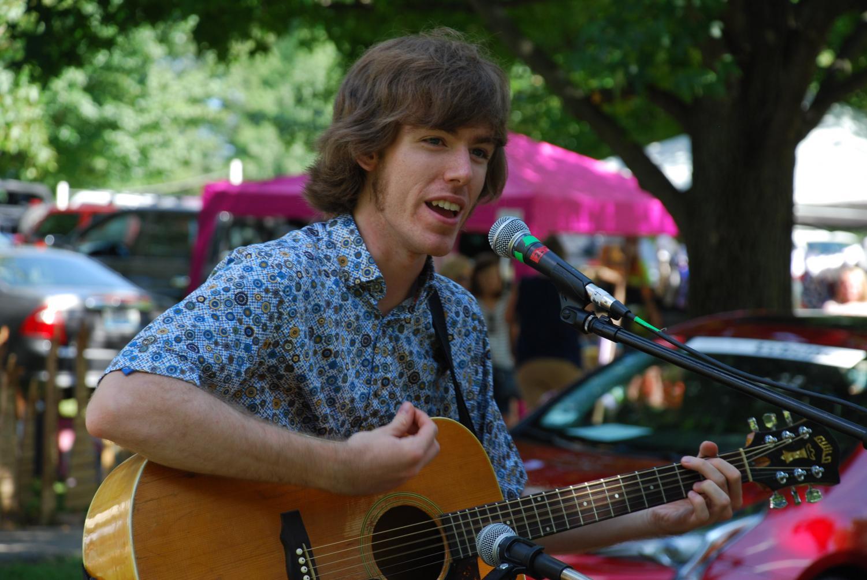 Jacob McDaniel on the Ferdinand Folk Fest Market Stage.