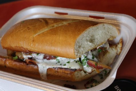 The LT, one of only five sandwiches on the menu at Lady Tron's. Sieg also serves daily soups and a weekly specials menu.
