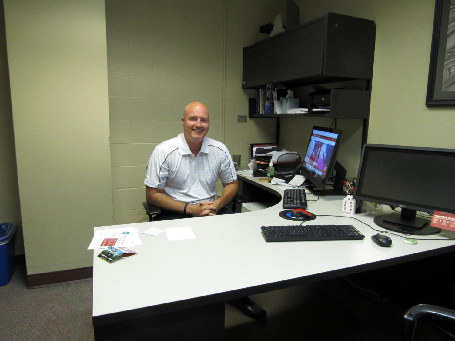 Shane Thomas, director of the Advising Center for Exploratory Students (ACES), sits in his office on the second floor of University Center.