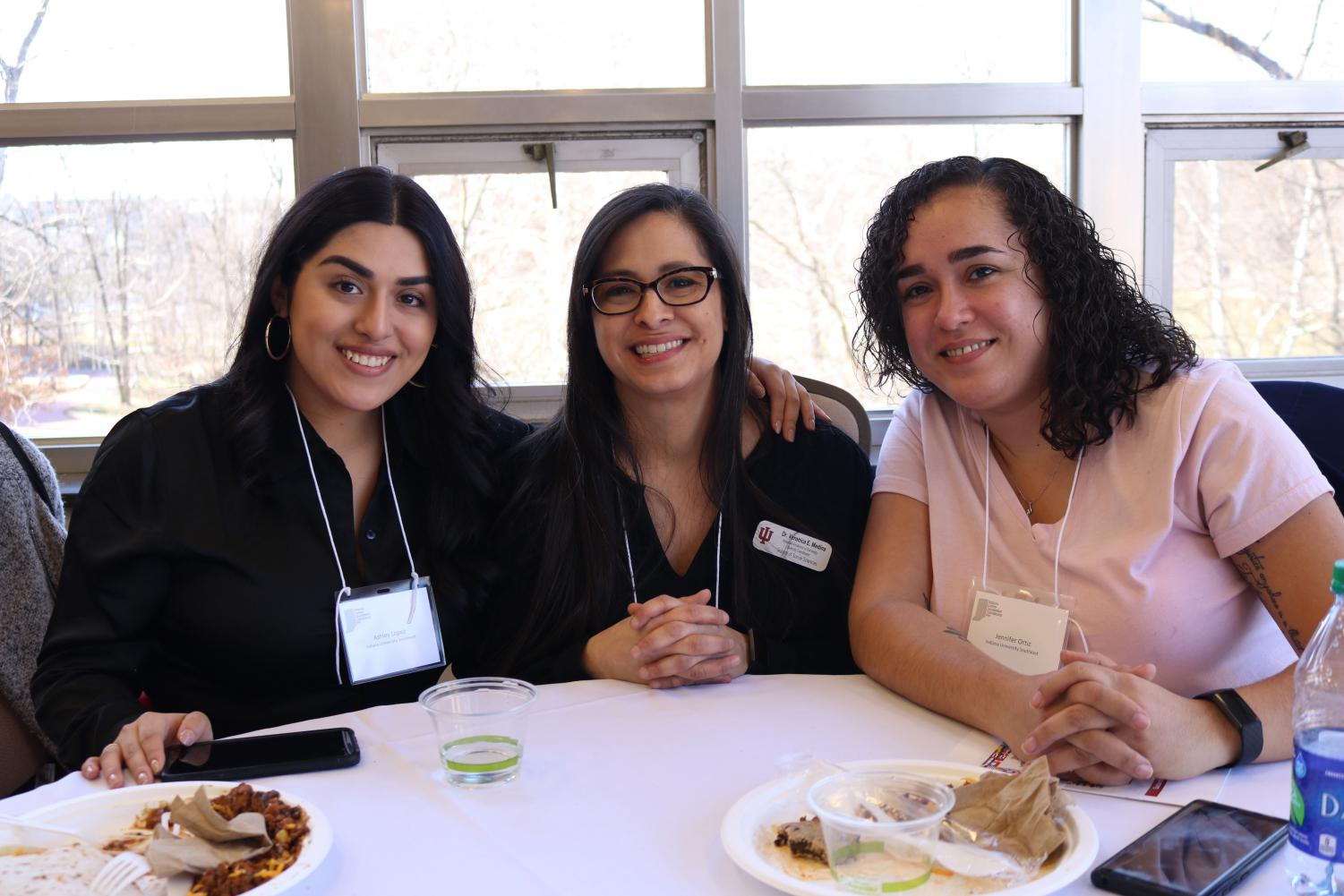 From left to right: ILLC co-chair Ashley Lopez, Veronica Medina, and Jennifer Ortiz.
