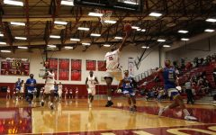 Junior David Burton goes up for a fastbreak layup during the first half of the Grenadiers' RSC Quarterfinal victory over Ohio Christian.