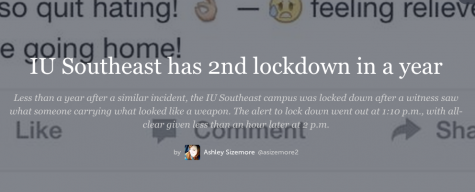 IU Southeast students share on social media during lockdown