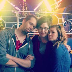 Horizon Editors  Zak Kerr, Aprile Rickert and Taylor Ferguson after riding the tilt-a-whirl at Harvest Homecoming .