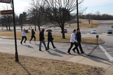 While many racers ran the two miles, others took a leisurely stroll.