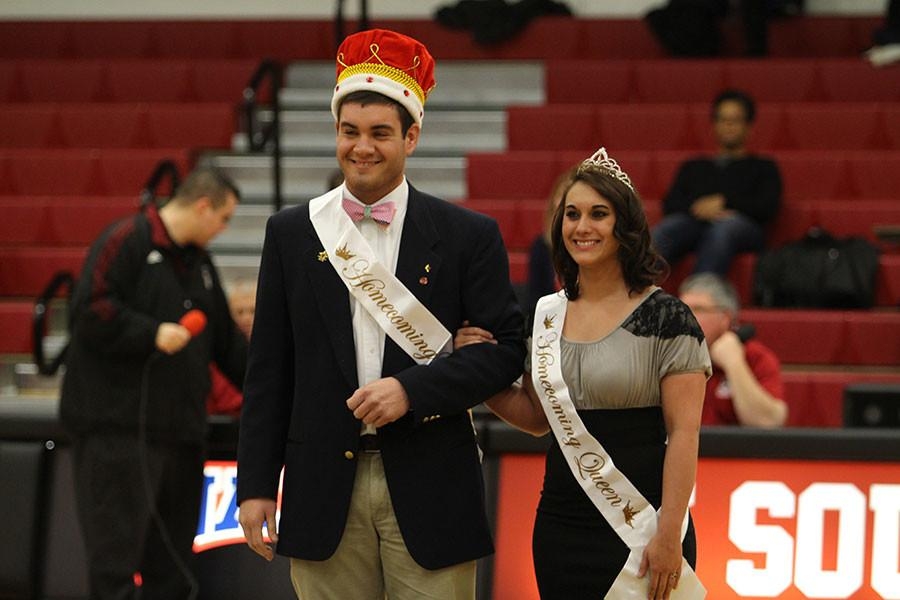 Senior+criminal+justice+major+Josh+Atkins+and+senior+journalism+major+Shelby+Orange+had+the+honor+of+becoming+the+first+Homecoming+King+and+Queen+in+IU+Southeast%E2%80%99s+history.