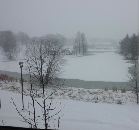 This photo from khush94 on Instagram shows some of the IU Southeast campus during the closing on Feb 16