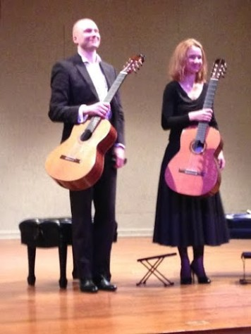 The Kupinski Guitar Duo ­­ Ewa Jablczynska and Dariusz Kupinski ­­ is a famous Polish  guitar duo that performs a variety of classical music pieces. The guitar duo performed on   Monday, March 30 in the Millicent and Norman Stiefler Recital Hall in the Ogle Center from 7:30 to 9 p.m.