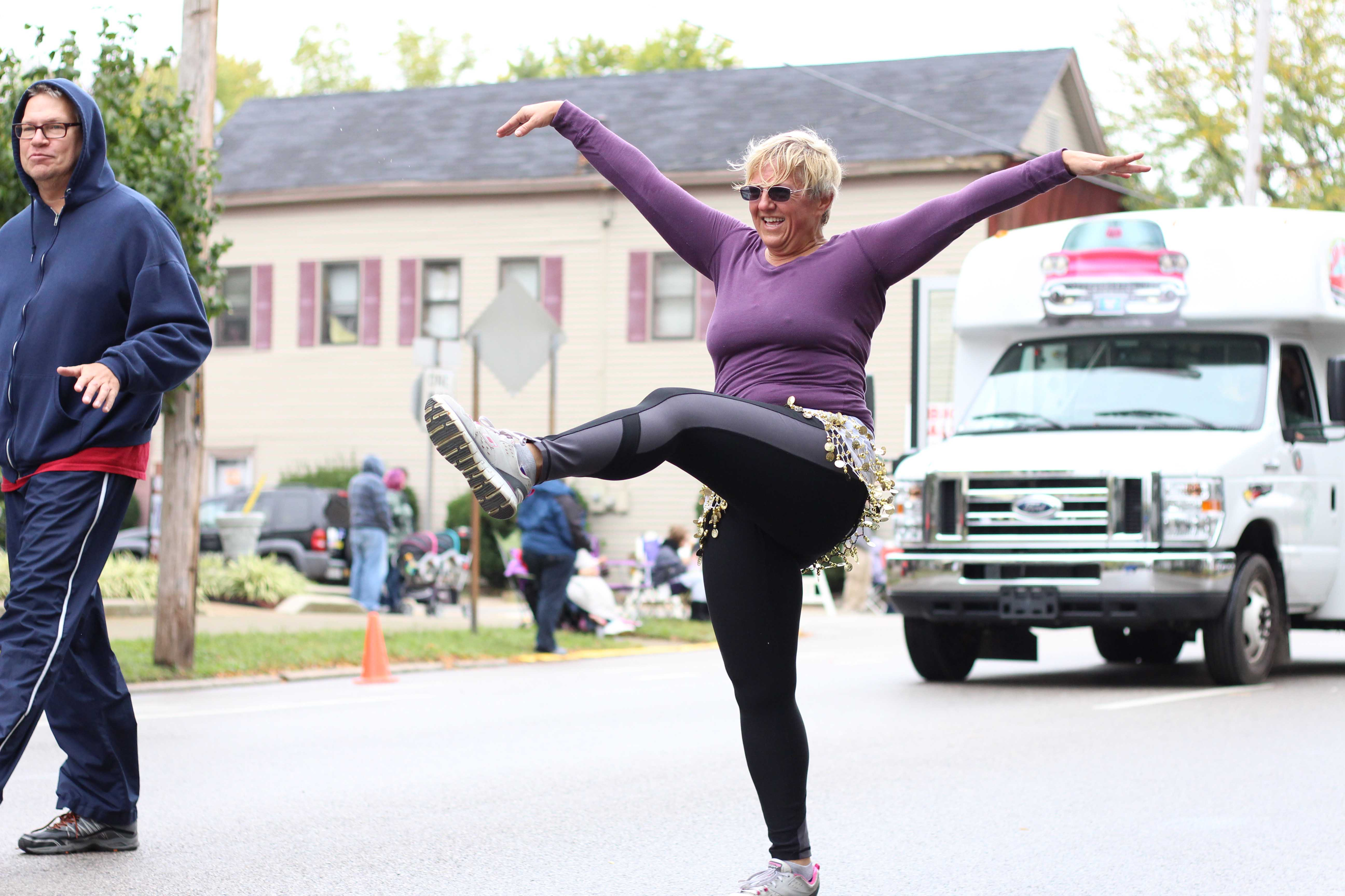 Judy+Kingston+danced+the+entire+time+to+the+music+that+the+Center+for+Women+and+Families+float+played+during+the+parade..+Her+favorite+move+was+the+old+school+kick+line.%0A