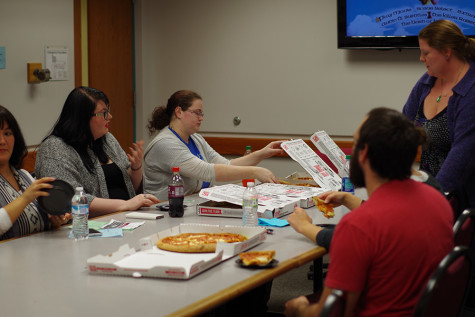 The English Club meets every Wednesday from noon to 1 p.m. in the IUS Library, room 302. Students do not have to be an English major to join the club.
