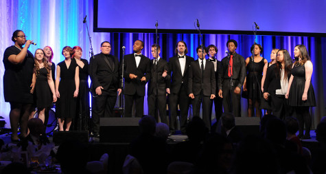 Photo courtesy of Acappella Geeks Club The Acappella Geeks Club performing at the 2015 Chancellor's Medallion Dinner.