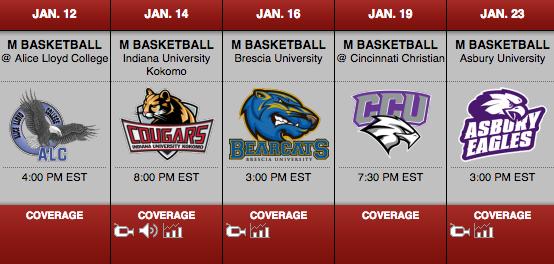 IUS Men's Basketball Schedule