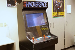 Matthew Wayne, computer science junior, said the Maker Club hopes to paint the arcade cabinet in the Life Sciences building.