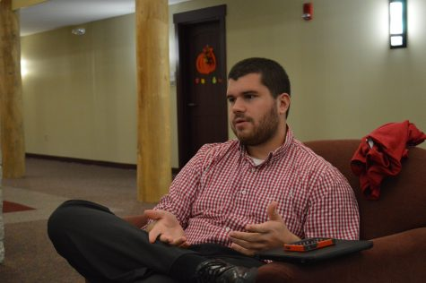 "Andrew Utley, residential life coordinator, discusses a possible theme to ""The Terrorist's Son."""