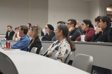 Students, staff and community members attending the LGBT History Month Panel.