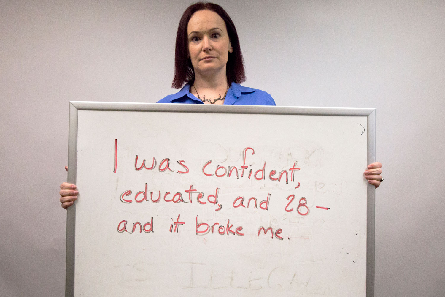 """Margot Morgan, associate professor of political science offers words of encouragement to sexual assault victims. """"Love yourself,"""" Morgan said. """"Don't judge yourself. Don't blame yourself. Don't listen to people who try to put you down. Trust yourself. You know what happened. You know who you are. You know the truth."""""""