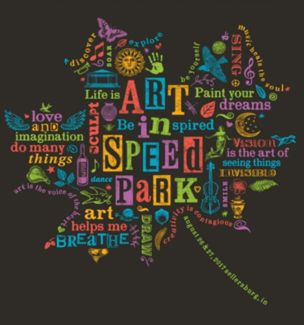 2017 Art In Speed Park tee shirt design created by Doreen DeHart.