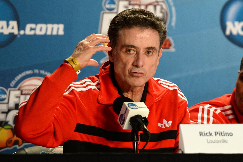 Rick Pitino, head coach of the Louisville Cardinal men's basketball team.   Creative Commons