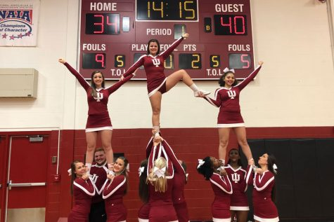 IU Southeast cheerleaders balance school and spirit
