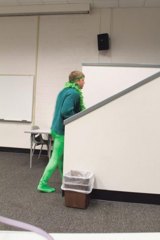 Joesph Bortka walking out of the meeting after he was voted out by the committee for being disrespectful to the meeting process.